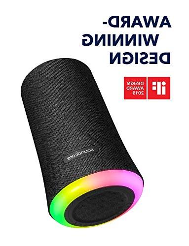 Portable Speaker, Flare by Anker, Waterproof with 360° Sound, Bass Ambient Light, Waterproof Life