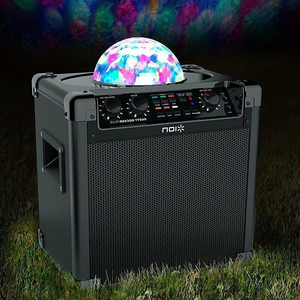 ION Bluetooth Party With And Karaoke Fun Light