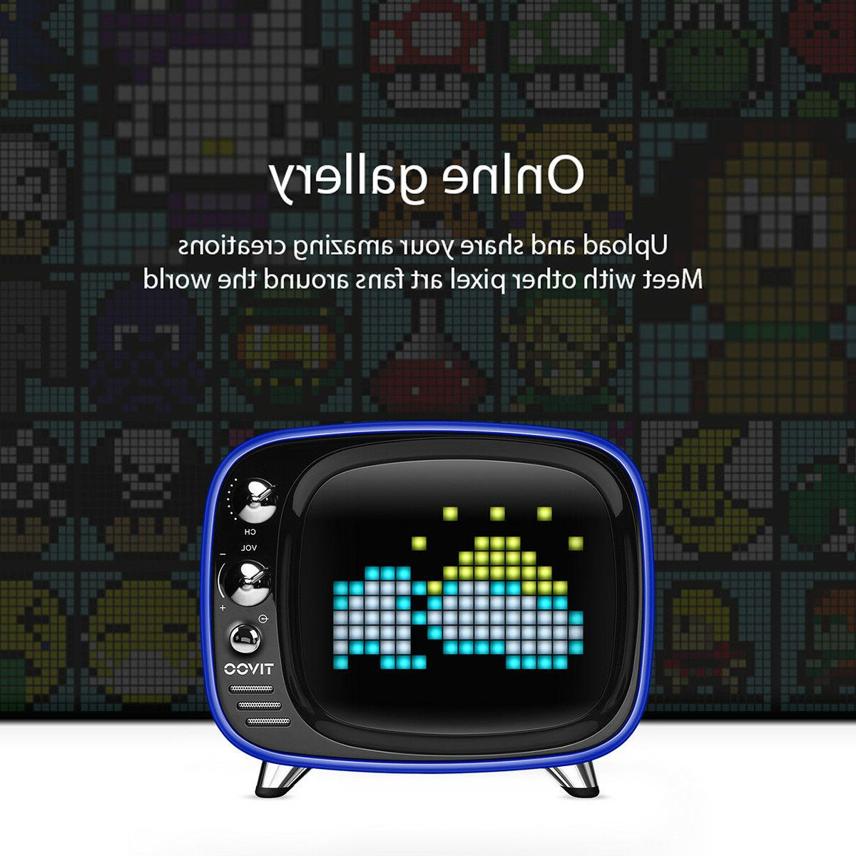 TIVOO LED Bluetooth Speaker card & AUX