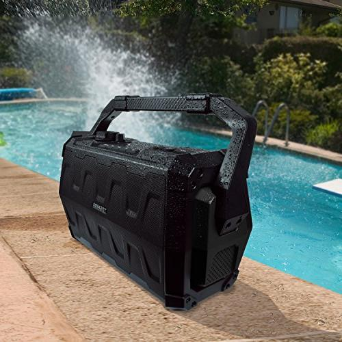Toshiba Bluetooth Water Resistant Indoor Boombox with USB Microphone
