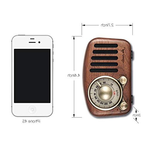 Vintage Speaker- Fashioned Strong Bass Loud Volume, Bluetooth Wireless Connection, TF Player