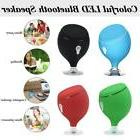 Waterproof Colorful LED Wireless BT Mini Speaker Suction Cup