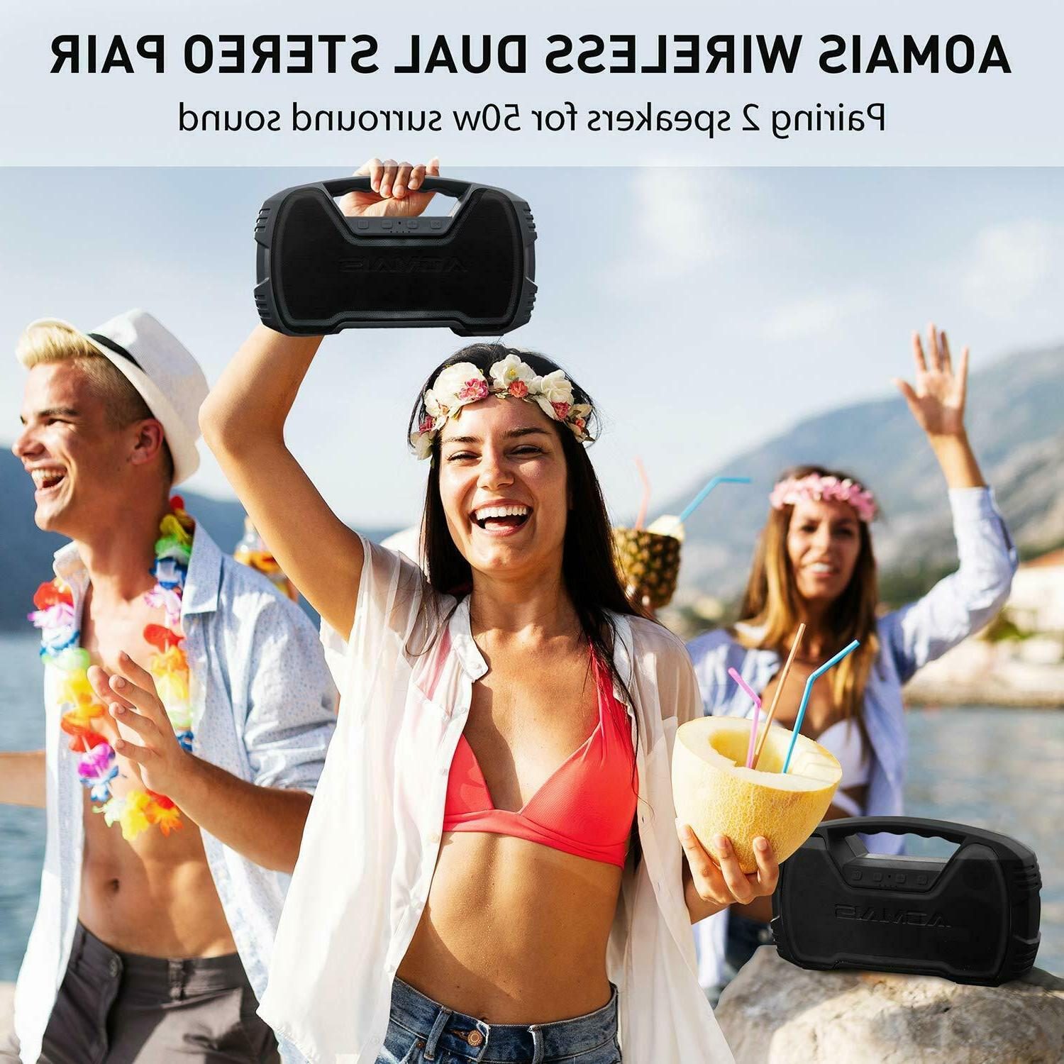 Wireless Bluetooth Speakers HD Bass, Portable Outdoor
