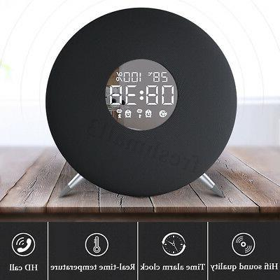 wireless bluetooth clock speaker led temperature display