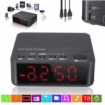 Wireless Bluetooth Electric Digital LED Alarm Clock Speaker