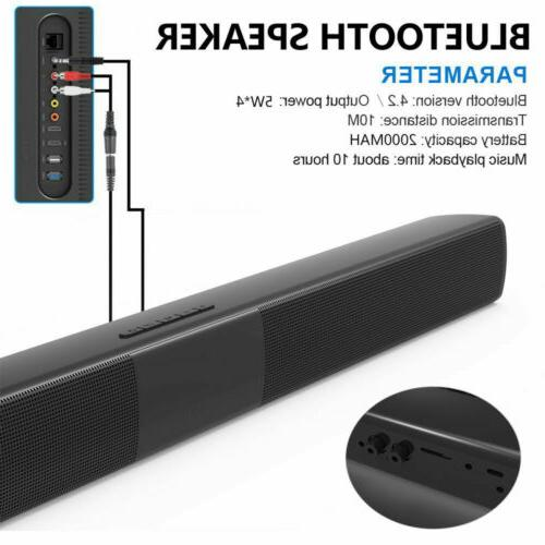Wireless Bluetooth Speaker TV Theater Soundbar Subwoofer