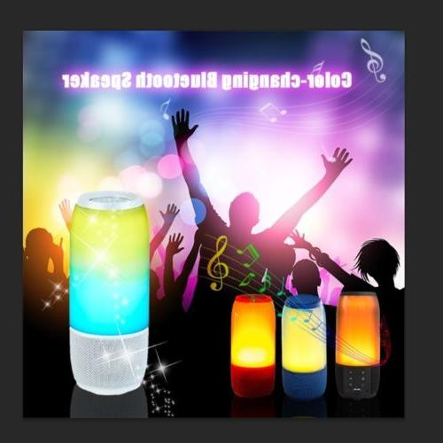 wireless bluetooth speaker color changing portable stereo