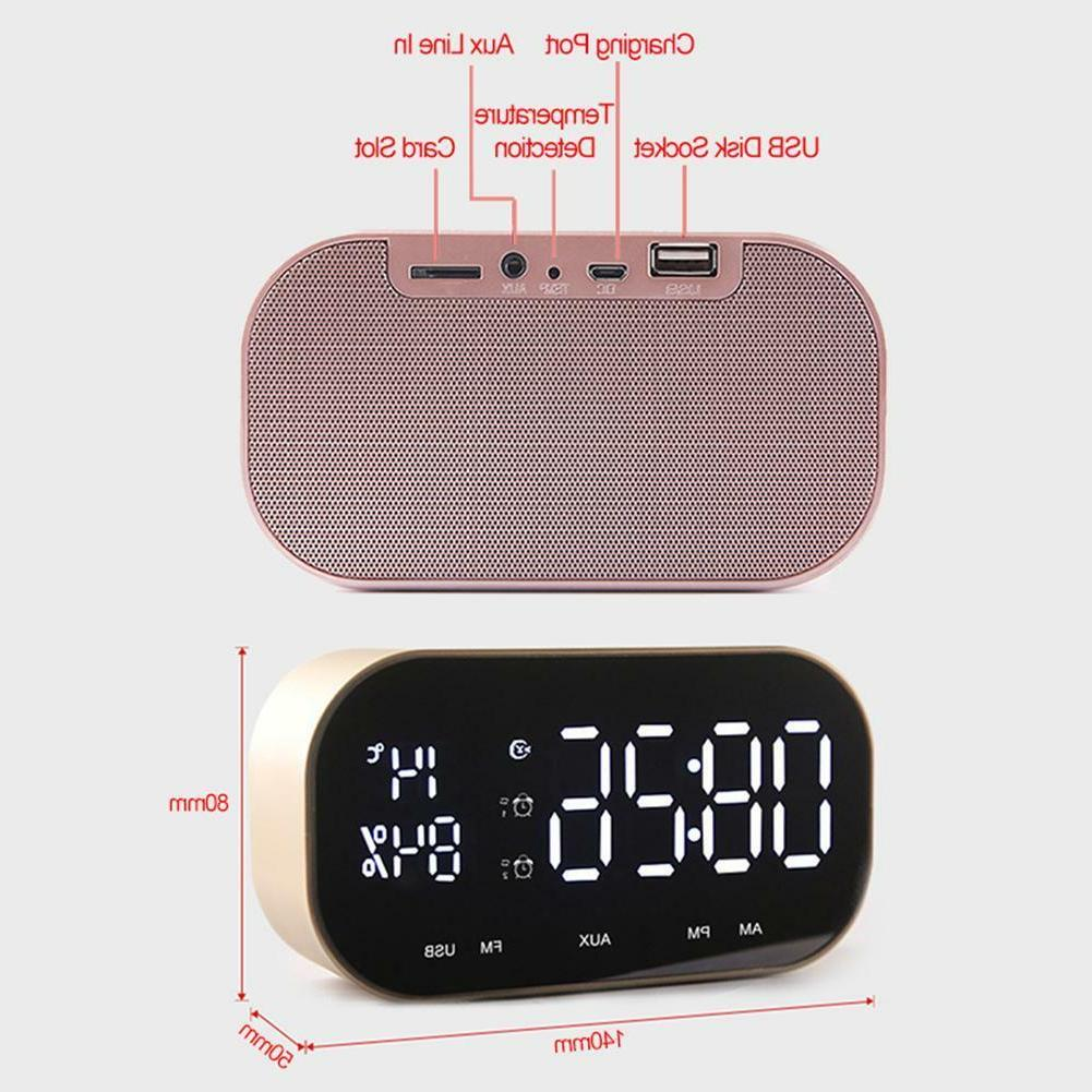 Wireless Bluetooth LCD Display TF USB Alarm