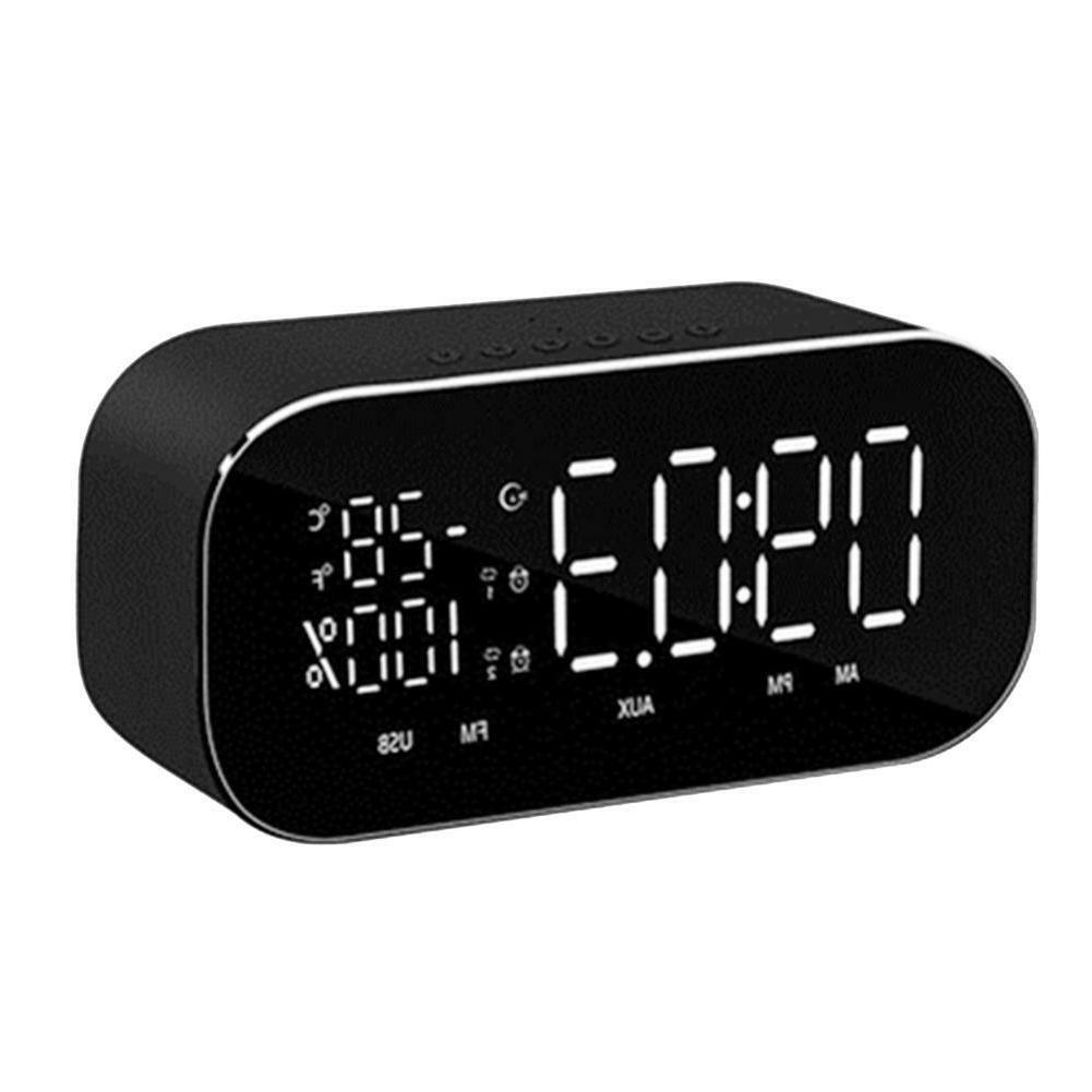 Wireless Temperature LCD Display FM TF Alarm