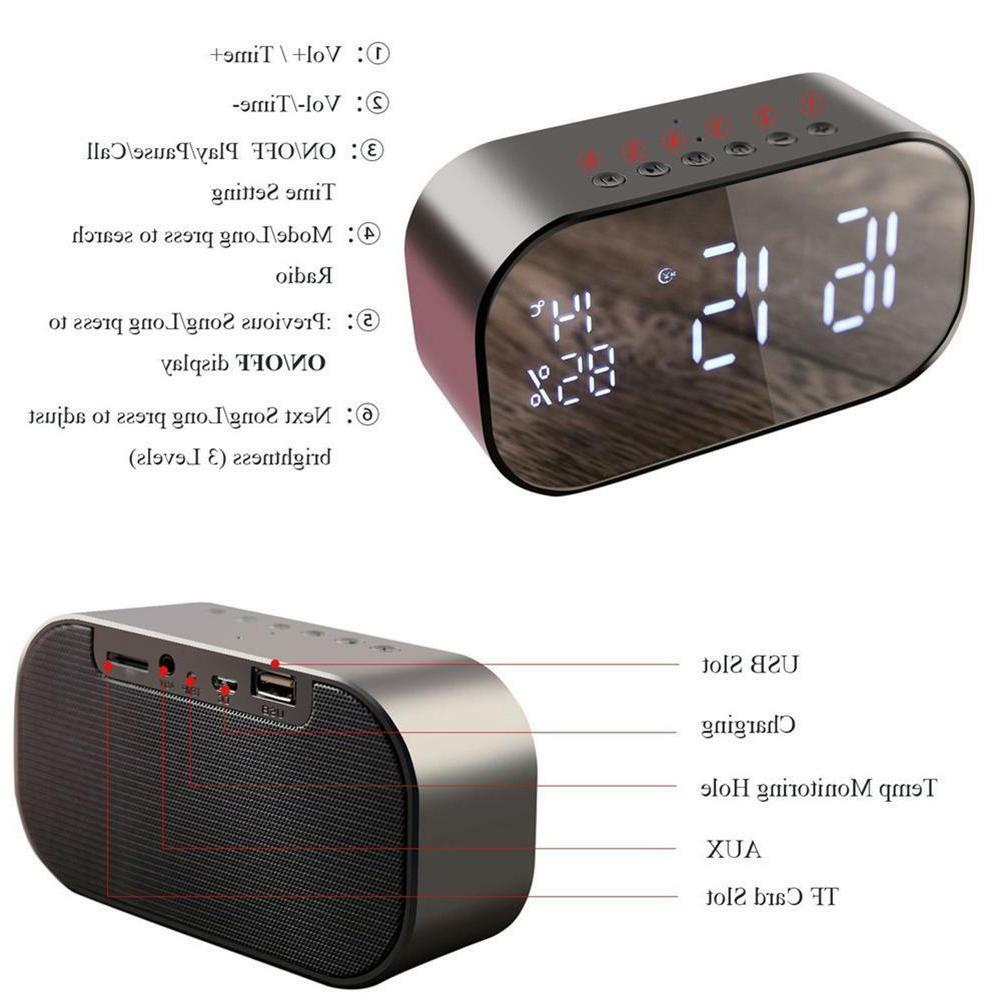 Wireless Speaker LCD Display FM Radio TF