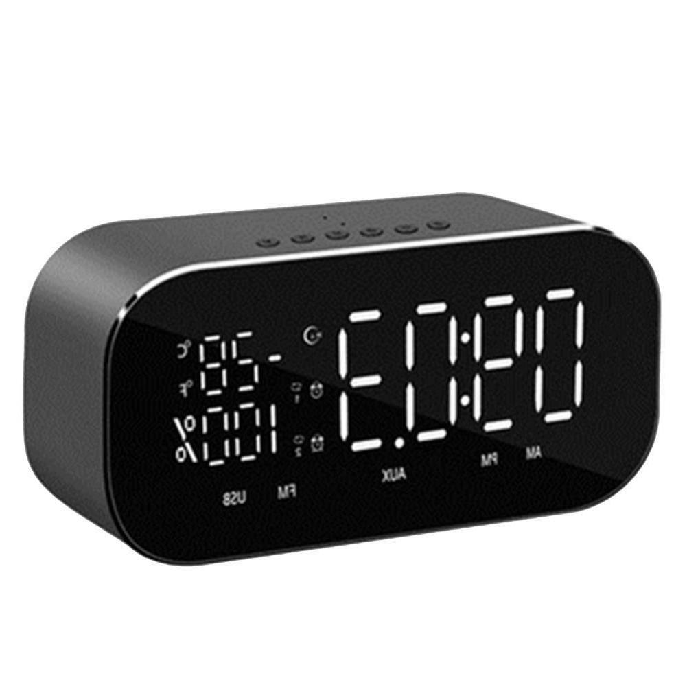 Wireless Bluetooth Temperature LCD Display Radio TF