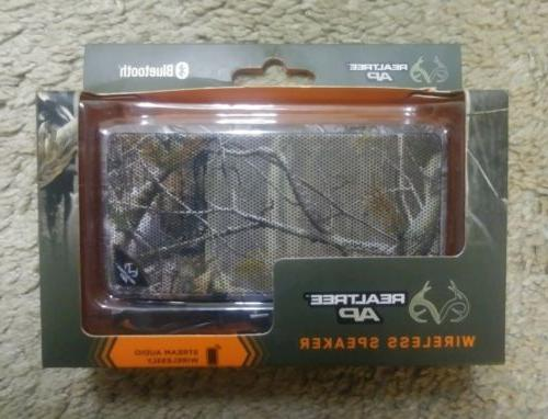 REALTREE AP Wireless Bluetooth Speaker w/ Charger, CAMO, P/N
