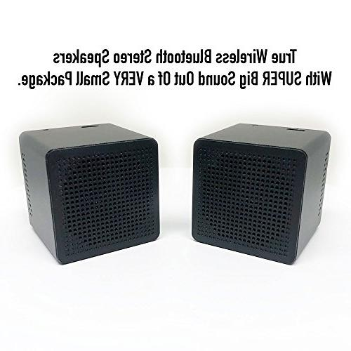 Wireless Bluetooth Speakers: Twin Portable Stereo Dual Pair Compatible with Android Galaxy MAC Echo
