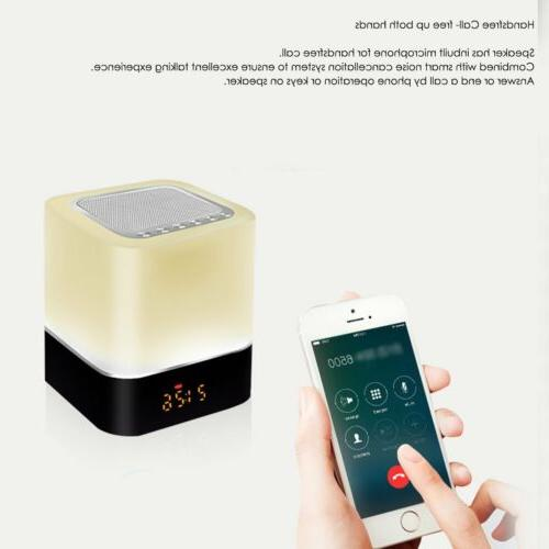 Wireless Bluetooth Touch Speaker With LED Alarm