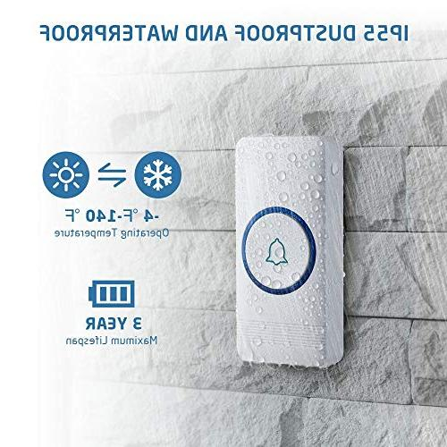 Wireless Waterproof Door Operating Receivers, Melodies, Quality Sound LED Flash