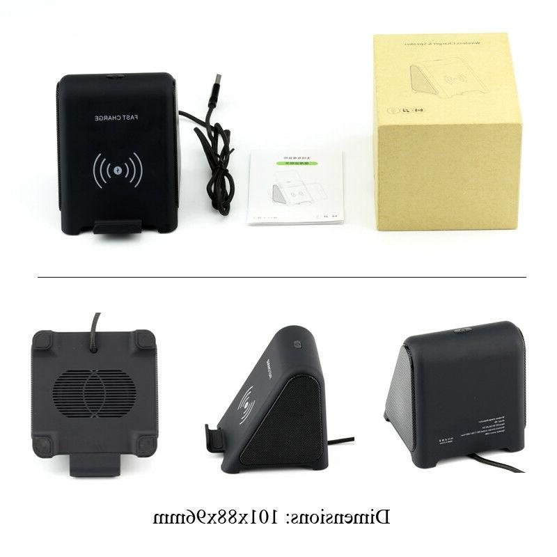 Wireless Fast charging Stand Wireless Charger with Bluetooth
