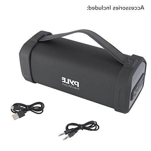 Pyle Portable Bluetooth with Rechargeable Battery MP3/USB/Micro Reader FM Radio