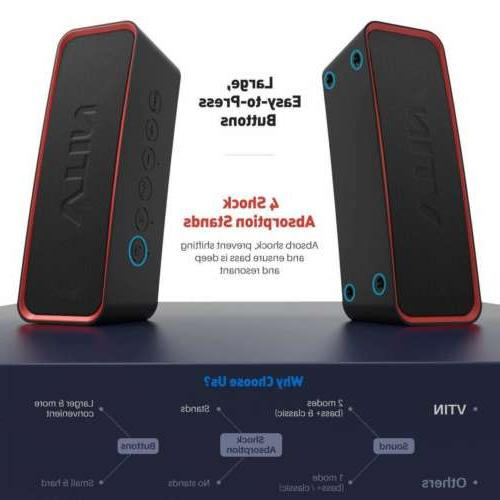 Vtin Portable Speaker with Classic IPX7