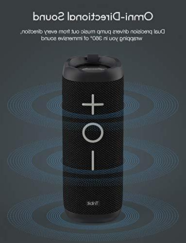 Tribit Speaker 24W Full Surround Bass, Wireless Dual IPX7 Waterproof, 20-Hour 66ft Bluetooth Range Wireless