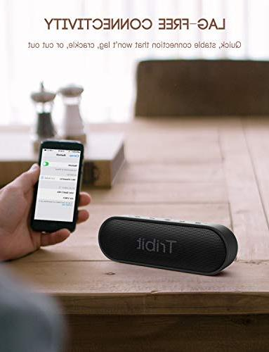 Tribit Bluetooth Speaker Superior Loud 24-Hour Playtime, 66ft Bluetooth Range, 12W Wireless Speaker Perfect Travel, Outdoors
