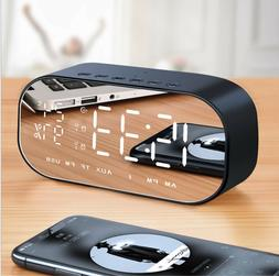 FOREV LED Digital Alarm Clock Radio, Wireless Bluetooth Spea