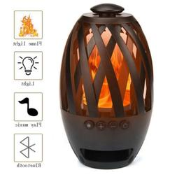Led Lamp Speaker Bluetooth Speakers with Led Flame Wireless