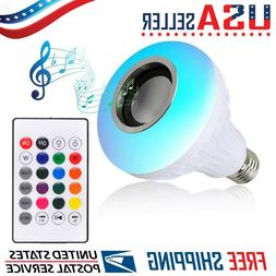 led wireless bluetooth light bulb speaker rgb