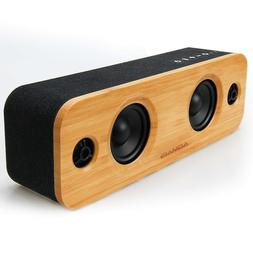 AOMAIS Life 30W Bluetooth Speakers, Loud Bamboo Wood Home Au