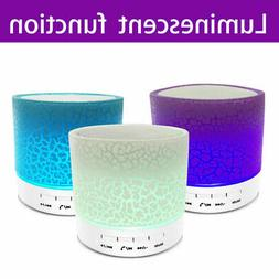 Luminous Lights Rechargeable Wireless Bluetooth Speaker Port