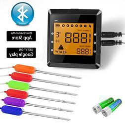 Wireless Meat Thermometer, BUKELERN Digital Bluetooth BBQ Th