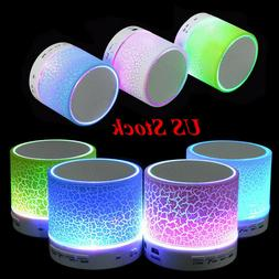 Mini Bluetooth Speaker LED Portable Wireless Bass with TF US