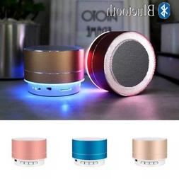 Mini Bluetooth Speaker USB Led Light Wireless Portable Music