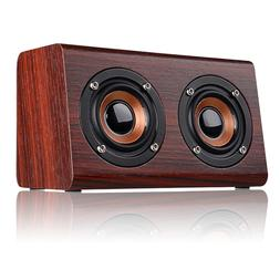 Mini Retro Wooden Bluetooth Speaker Wireless Subwoofer Porta
