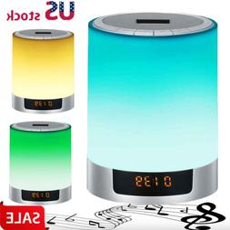 Mini Wireless Bluetooth Speaker LED Night Lights Color Chang