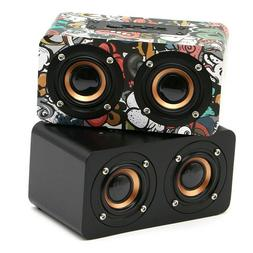 Mini Wooden Bluetooth Speaker Portable Wireless Subwoofer St