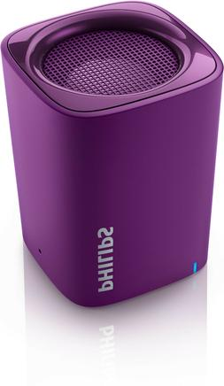 NEW PHILIPS  PURPLE BT100V/27 Wireless Mini Portable BLUETOO