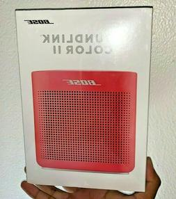 NEW Bose SoundLink Color II 2 Coral Red Portable Bluetooth W