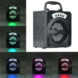 Outdoor BT Wireless Portable Speaker Super Bass with USB/TF/