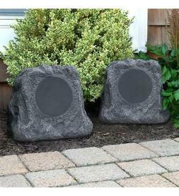Pair Bluetooth Wireless Outdoor Rock Speakers Waterproof Pat