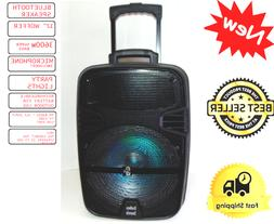 """15"""" Rechargeable PA Speaker +USB/SD/LED +Free microphone"""