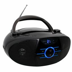 Portable Bluetooth CD Player with AM/FM Wireless Aux input S