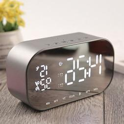 Portable Bluetooth Wireless Stereo Speaker with Alarm Clock