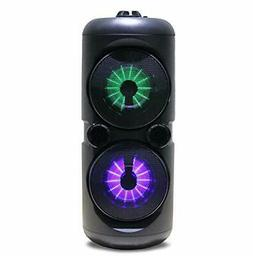 Naxa Electronics Portable Dual Wireless Party Speakers with