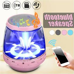 Portable LED Stereo Bluetooth Speaker Wireless Bass For Smar
