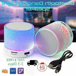 Portable Mini Bluetooth Speaker LED Wireless Bass Speaker Wi