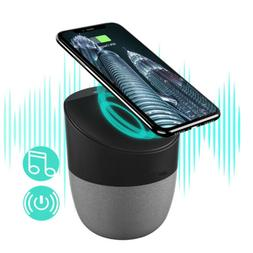 Qtouch 2in1 Bluetooth Speaker+Qi Wireless Charger Charging H