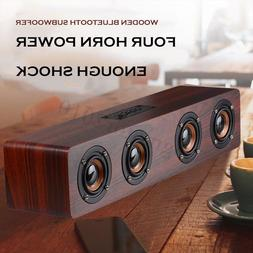 Retro Wooden Subwoofer Wireless Bluetooth Speaker HIFI Stere