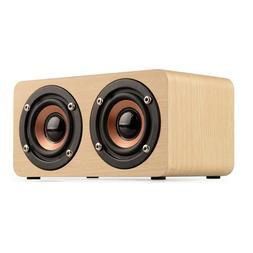 Retro Wooden Wireless Bluetooth Speaker HIFI Super Bass Subw