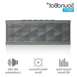 SoundBot® SB571 Bluetooth Wireless Speaker for 12 hrs Music