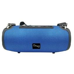 Supersonic SC-2327BT- Blue Portable Bluetooth Speaker with T